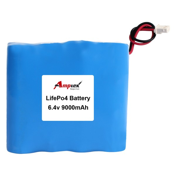 LiFePO4 Battery Pack 6.4v 9000mAh